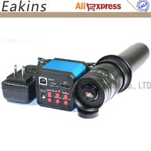 Big sale 14MP HD HDMI USB Industrial Electronic Digital Microscope Camera Magnifier TF Card Video Camera +300X C-mount Lens