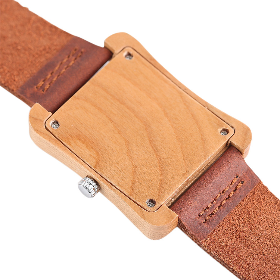 genuine leather band nature wood watch19