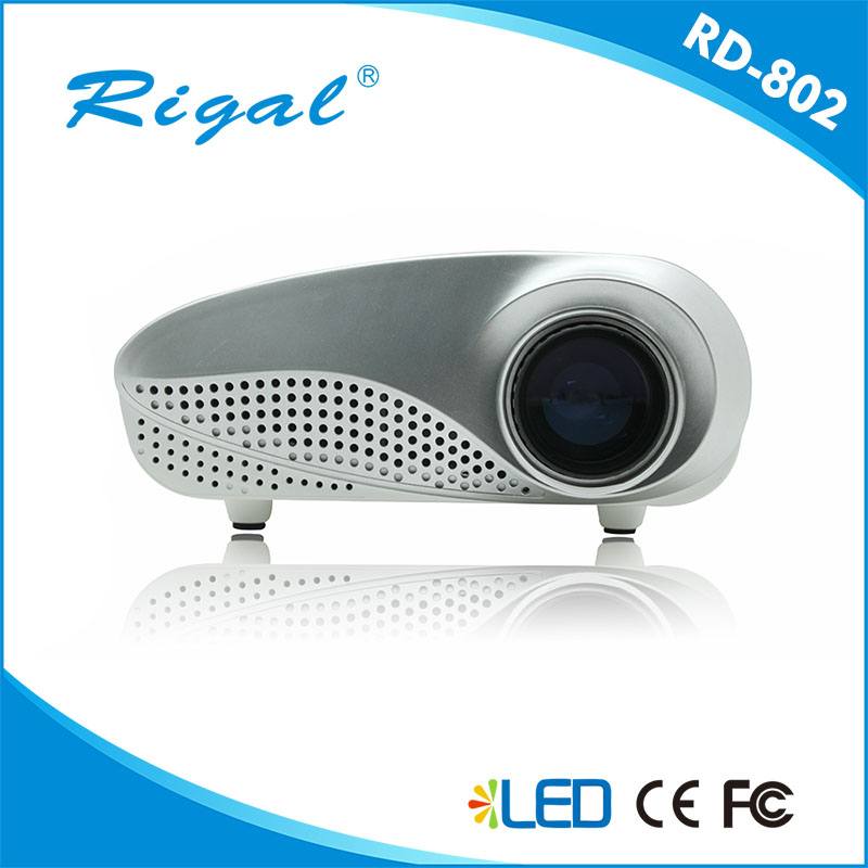 Portable RD 802 Mini LED projector Home Multimedia Cinema LED 1080P Projector HDMI/AV/VGA/SD/USB/TV proyector LED White  new arrival gp8s mini home cinema theater 1080p hd multimedia pc usb led projector av tv vga hdmi