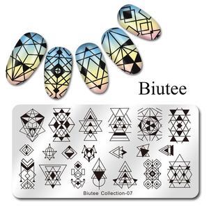 Image 4 - Biutee Nail Stamping Plates Stamper Scraper Nail Template Flowers Geometric Patterns DIY Nail Designs Manicure Stamp Plate