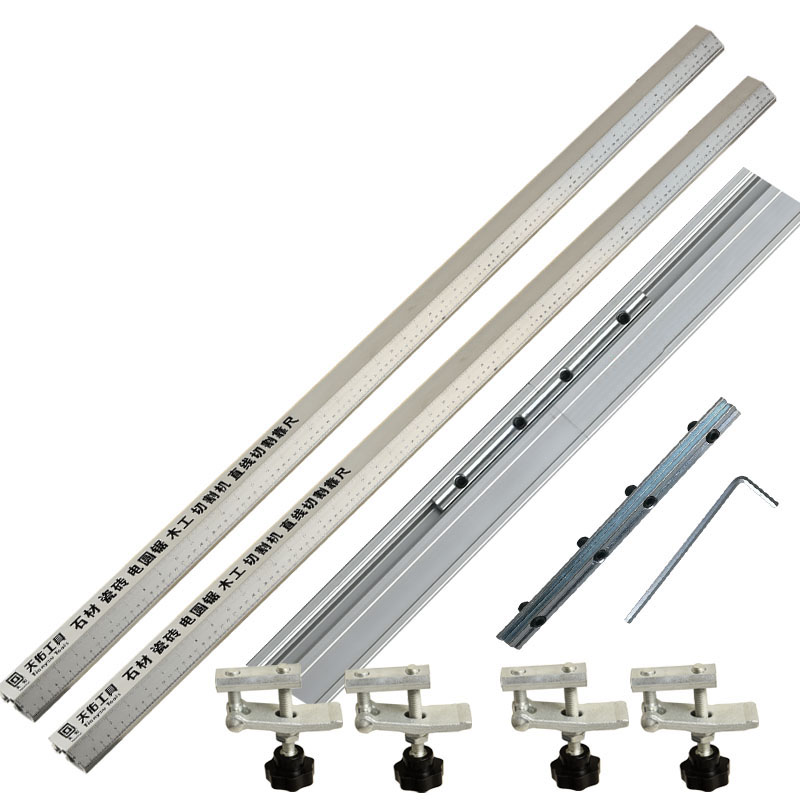 2pc 135cm 3 In 1 45 Degrees Chamfer Fixture Electric Circular Saw Cutting Machine Guide Foot Ruler Guide Woodworking Tools