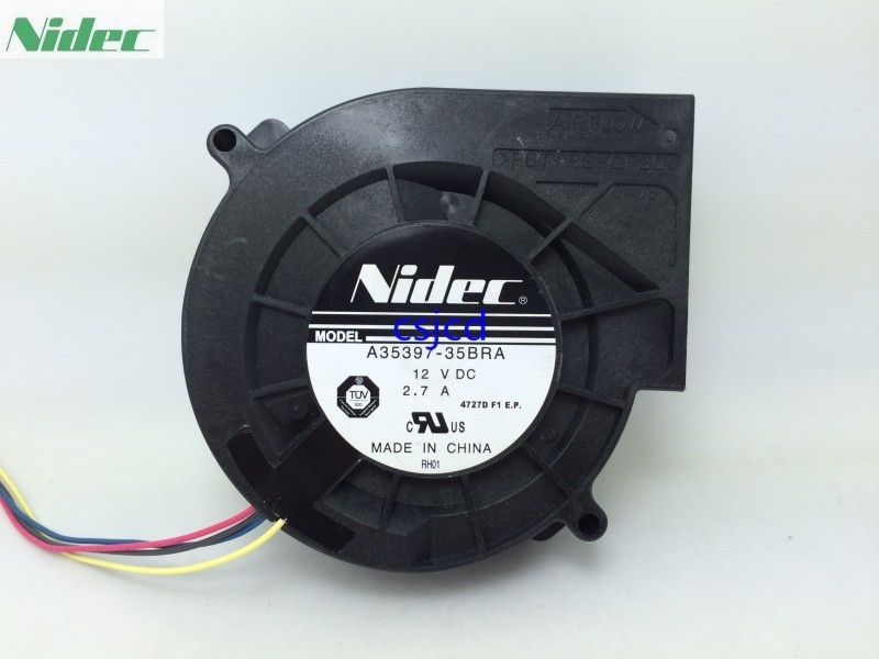 New Original NIDEC 9733 turbo fan blower fan violence A35397-35BRA 12V 2.7A layered rhinestone ball sweater chain