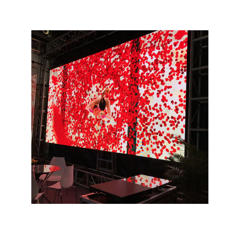 High Resolution Big Advertising Rgb P4.81 SMD 500*500mm Die Casting Aluminum Cabinet Rental Indoor Hd LED Display For Video Wall