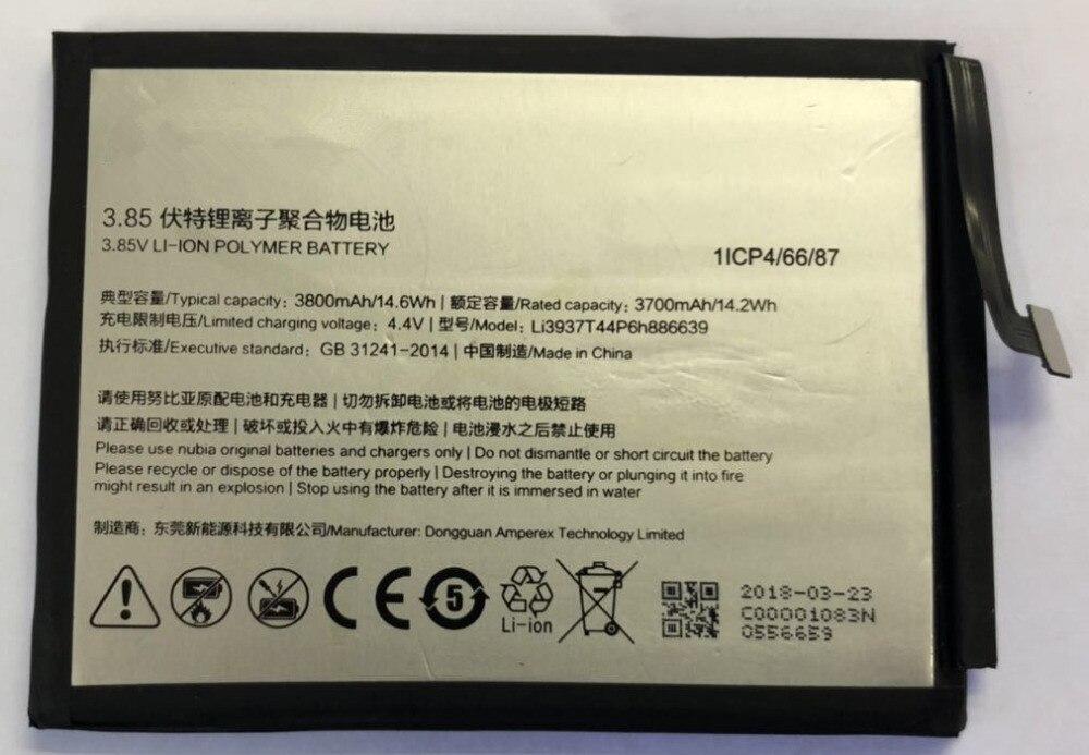 100 Original 3800mAh LI3937T44P6H886639 Battery For ZTE NX609J Bateria Cell Mobile Phone Batteries Free Shipping in Mobile Phone Batteries from Cellphones Telecommunications