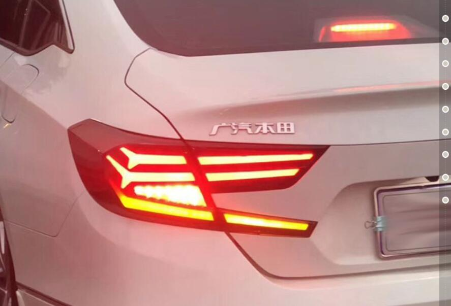 dynamic 2018 2019 year LED Rear Lights For Accord 10th Car Tail Light LED Lamp Braking
