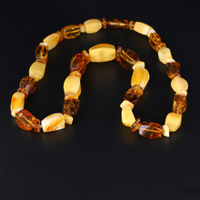 лучшая цена 100% amber legend of the French natural amber multi - treasure abacus beads necklace multi - functional models short paragra