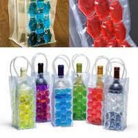 Refroidisseur rapide de vin de glace sac de refroidisseur de bière de PVC en plein air sac de Gel de glace sac de congélateur de pique-nique