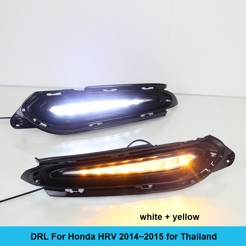 Car DRL kit for HONDA HRV 2014 2015 LED Daytime Running Light bar Super bright fog auto lamp daylight cree for car led drl 12v