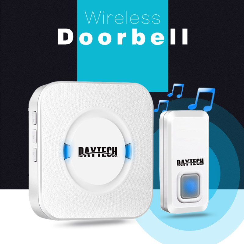 DAYTECH Wireless Doorbell Waterproof Chime Kits 1 Plug-in Receiver wireless door bell 1 Smart Alarm Push Button Outdoor все цены