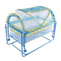 Портативный детские металлические кроватки кроватка для защиты новорожденных кроватка качалка тележка с сеткой манеж кроватки для ребенк