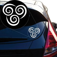\Avatar The Last Airbender Air Nomads Vinyl Decal Sticker (4 X 4.3, White) Car Accessories