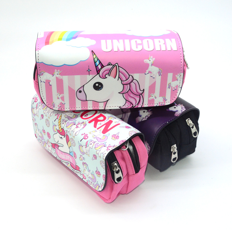 Pencil Case Estuche Escolar Trousse Scolaire School Kalem Kutusu Pencilcase Estuches Para El Colegio Cute Unicorn Kawaii Bag