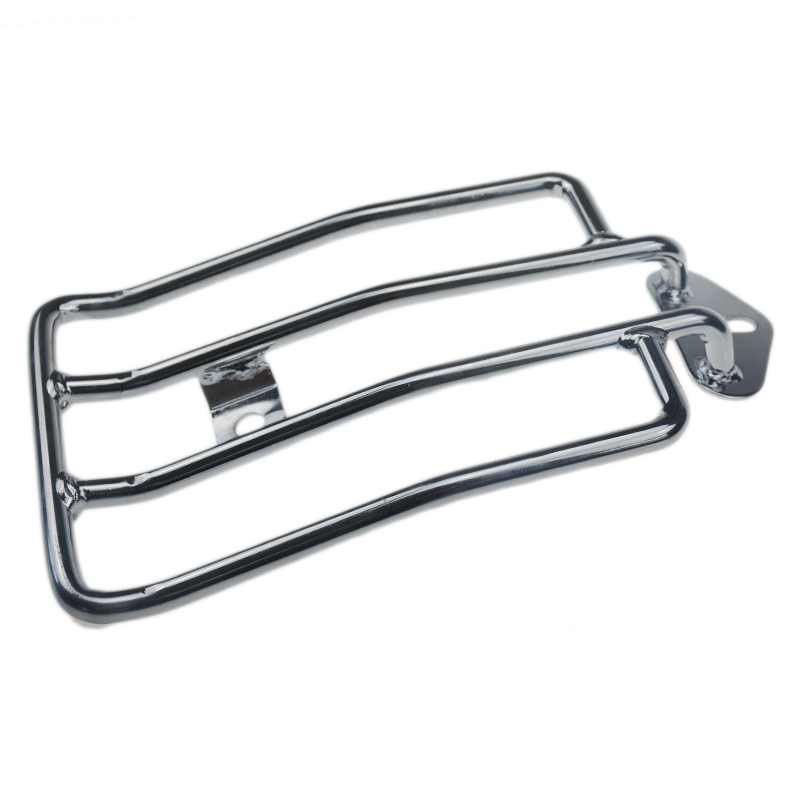 Chrome Solo Seat Luggage Rack For Harley Davidson