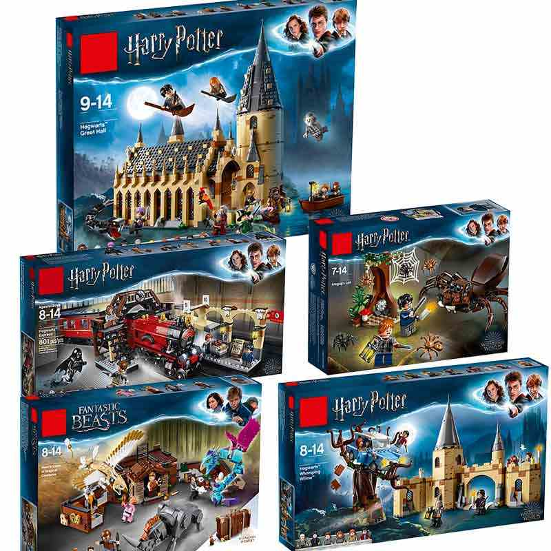 Harri Potter The Hogwarts Castle Express Train House Model Toy Building Block Bricks Compatible Legoings with Figures Toys