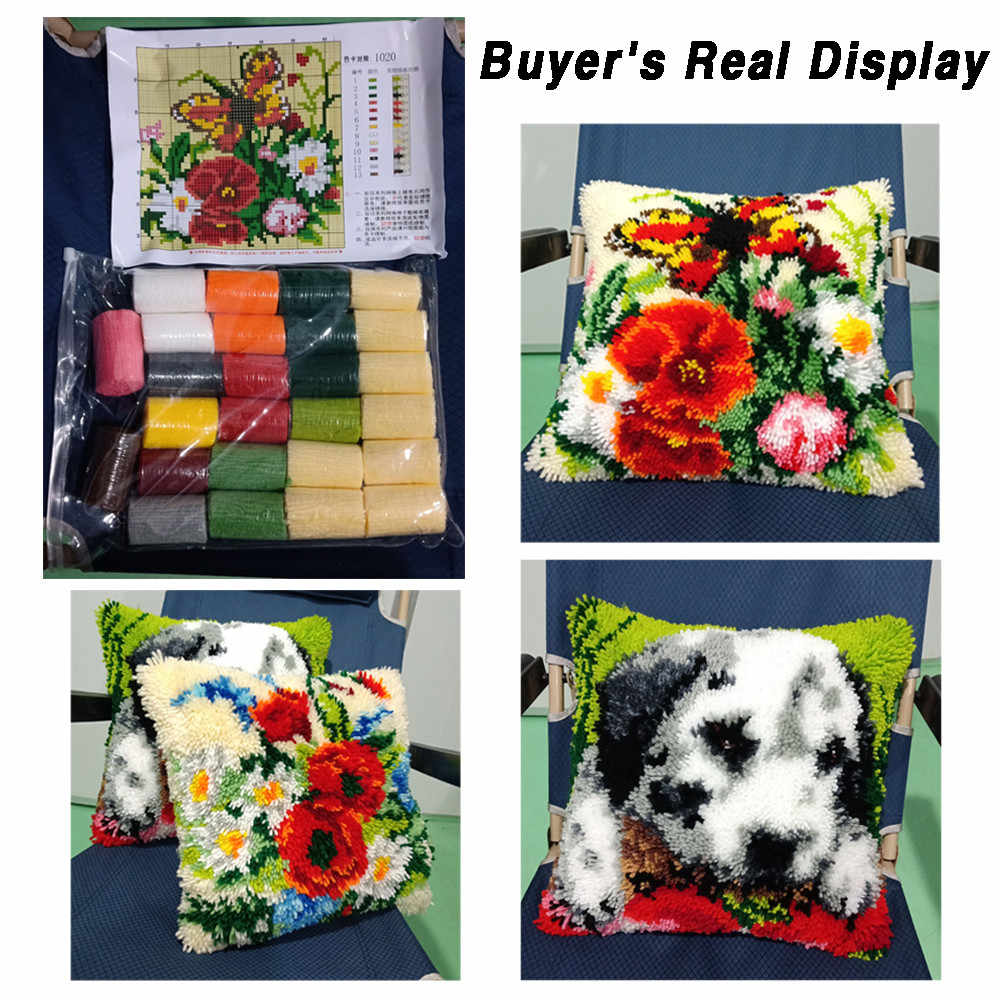 Zestawy do dywaników z haftem puchowym poszewka na poduszkę Goblen Kitleri płótno Kussen Knooppakket Kleed La Casa De Papel Serie wyszywana poszewka na poduszkę