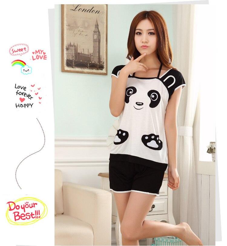 Aliexpress.com : Buy Summer Women pajamas Short sleeve Cotton ...