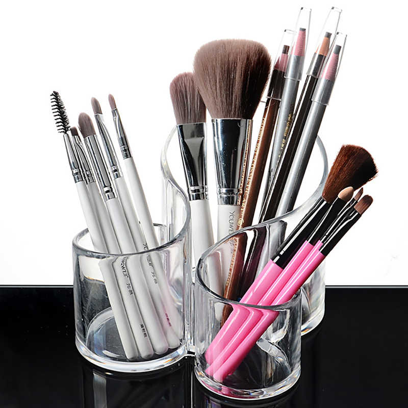 Clear Makeup Storage Box Organizers Lipstick Display Boxes Cosmetic Cosmetic Display Stand Makeup Brush Holder Accessories