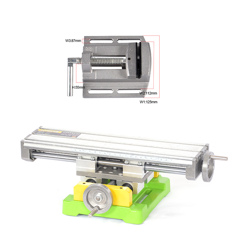 Miniature precision multifunction Milling Machine Bench drill Vise worktable X Y axis adjustment Coordinate table 2
