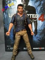"""Neca Uncharted 4 Un Ladro Di Fine Nathan Drake Ultimate Edition Pvc Action Figure Da Collezione Model Toy 7 """"18 Cm"""