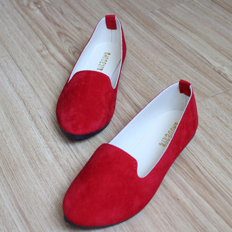 spring autumn loafer women shoes ladies ballet flats woman ballerinas casual shoe sapato zapatos mujer womens shoes plus size 43 Big Size Women Flats Candy Color Woman Loafers Spring Autumn Flat Shoes Women Zapatos Mujer Plus Size 35-42 WSH2216
