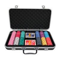 300шт фишки для покера набор с 2 пластик игральные карты и чемодан 300 EPT керамика покерный набор Set of Poker Chips