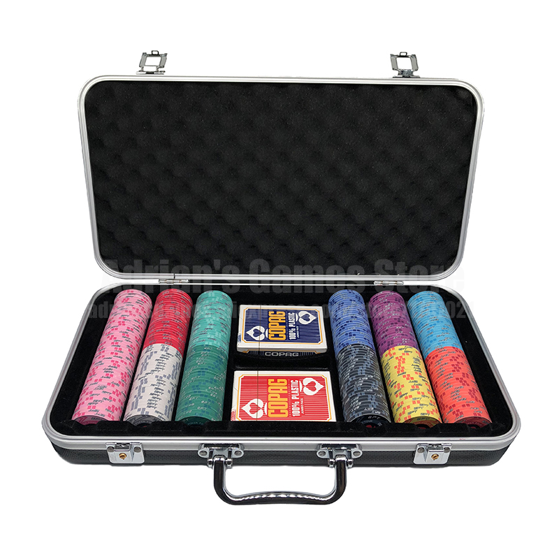 300 Pieces Poker Chips Set With 2 Decks of Plastic Playing Poker Cards & Suitcase 300pcs EPT Ceramic Poker Chips300 Pieces Poker Chips Set With 2 Decks of Plastic Playing Poker Cards & Suitcase 300pcs EPT Ceramic Poker Chips