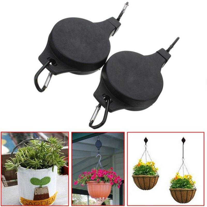 Useful 2Pcs/lot New Retractable Basket Hanging Hook Pull Down Hanger Pulley Garden  Plant Pot In Hooks U0026 Rails From Home U0026 Garden On Aliexpress.com | Alibaba  ...