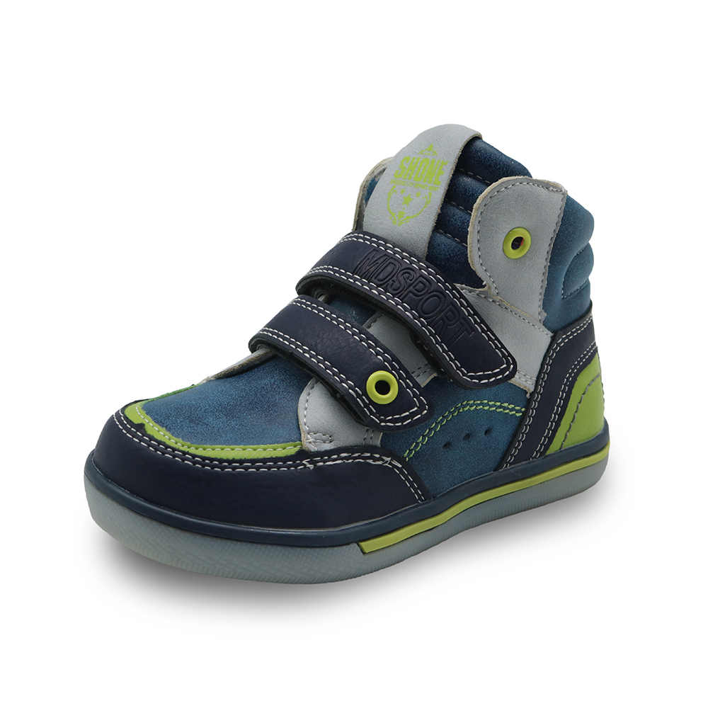 Apakowa Mid-cut Kids Shoes Fashion Sport Children Shoes Spring Autumn Sneaker Shoes for Boys Hook-and-loop Little Boys Shoes