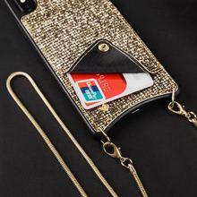 DanYee Модный Роскошный чехол из мягкого ТПУ чехол через плечо с длинной цепочкой для кредитных карт чехол для Iphone XR XSMax 6 S 8 7 plus