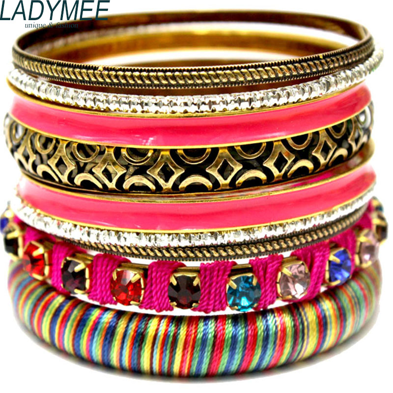 Bijoux Wrap Vintage : Aliexpress buy ladymee bracelet bangles indian