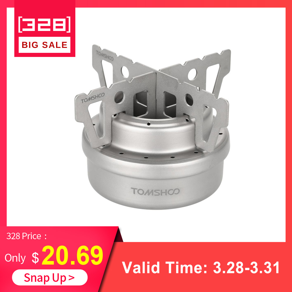 Stainless Steel//Titanium Outdoor Camping Mini Alcohol Stove Cross Stand Rack