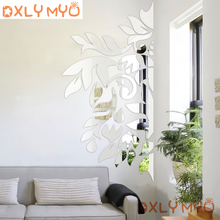 Spring Nature Decorative Sticker Tree Mirror Wall Stickers 3D Living Room Bedroom Home Wall Decor Door Tile Refrigerator Sticker комод мо рост комод сибирь