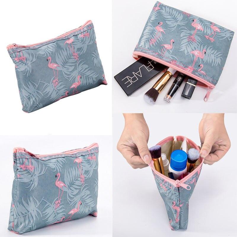 2019 New Arrival Flamingo Cosmetic Bag Women Necessaire Makeup Bag Travel Waterproof Portable Makeup Bag Toiletry Kits