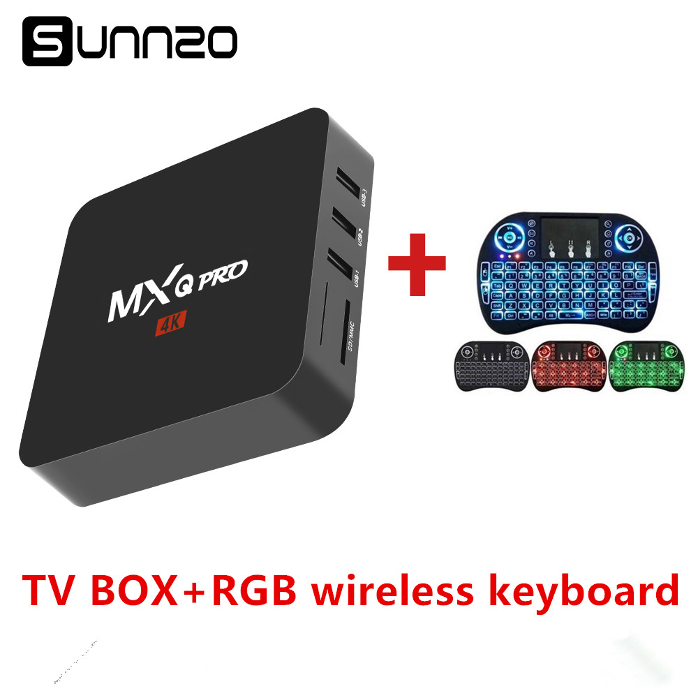 купить Smart TV Box Android 7.1 MXQ Pro TV BOX 1GB 8GB Quad Core 2.4GHz WiFi Stream Media Player Set Top Box With Wireless Keyboard онлайн