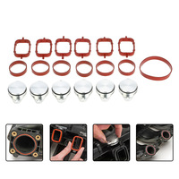 SI A0137 33mm Diesel Swirl Flap Blanks Replacement Bungs With Intake Manifold Gasket For BMW 320d