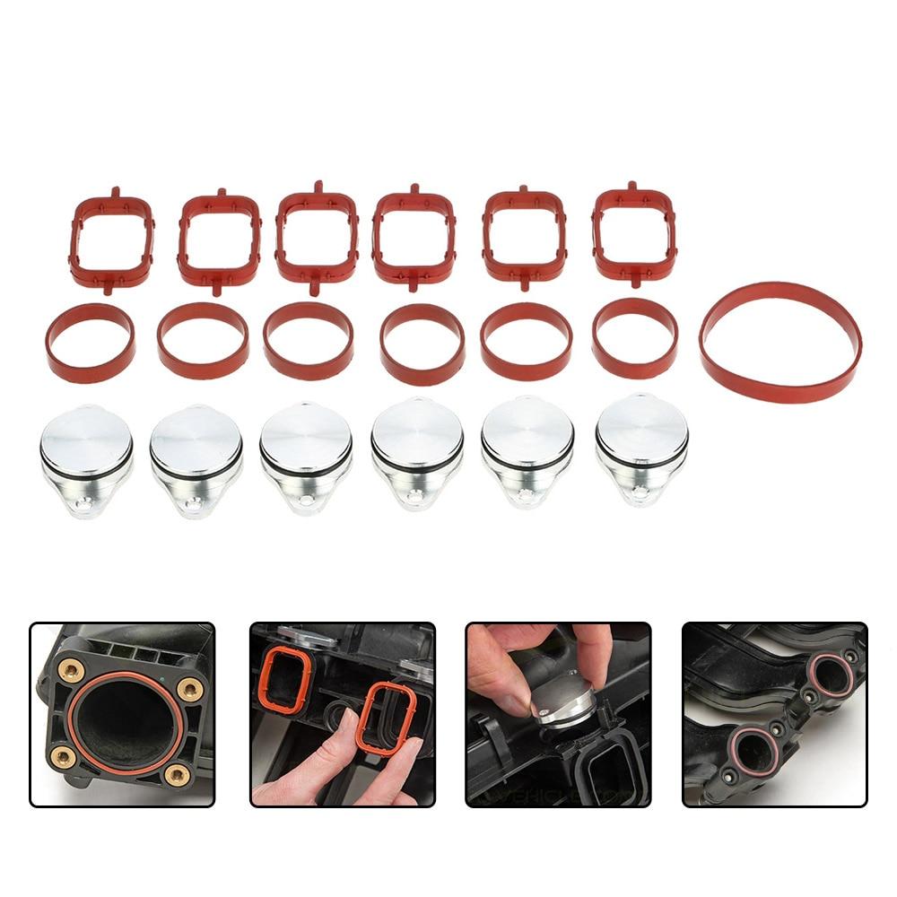 SI-A0137 33mm Diesel Volet de Turbulence Blancs Remplacement Bondes avec Collecteur D'admission Joint pour BMW 330d 320d 520d 525d 530d 730d