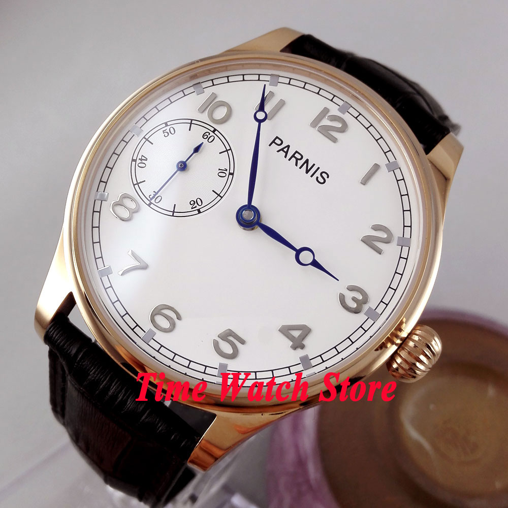Parnis watch 44mm white dial golden case ST3600 6497 mechanical hand chain movement Mens watch 220Parnis watch 44mm white dial golden case ST3600 6497 mechanical hand chain movement Mens watch 220