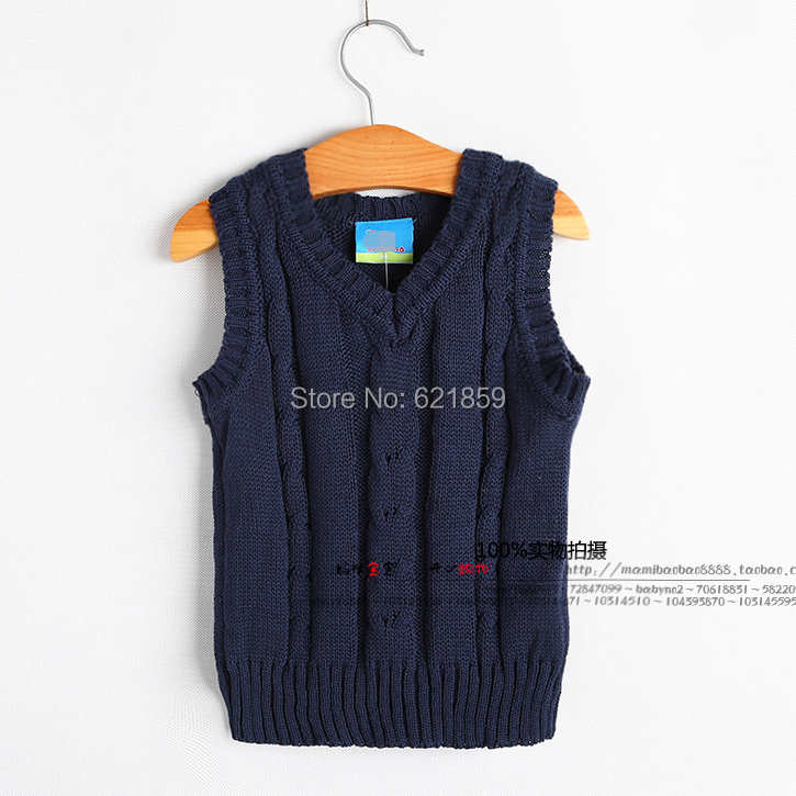 new Spring and autumn and winter baby boys ceiling vest sweater vest casual sleeveless tops child Soft and comfortable thin vest