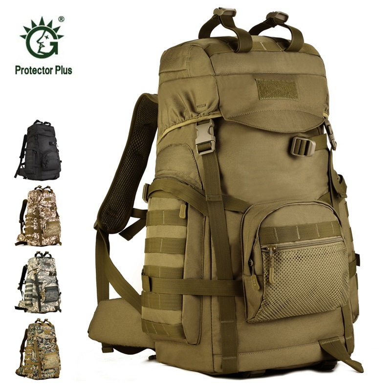 60L Large Capacity Hiking Bag Military Tactical Backpack Rucksacks Camouflage Camping Hunting Sports Bags Travel Packs Bolsa large capacity 60l waterproof handbag military tactical backpack outdoor sports camping climbing camouflage molle luggage bags