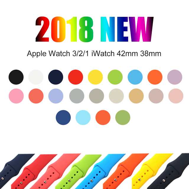 Silicone Sport Band for iwatch Series 4321 Accessories Replaceable Bracelet Strap for apple Watch 42mm 38mm 44mm 40mm Watchband