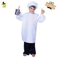 Girls Boy Kindergarten Games Cooking Clothing Chef Uniform Costumes Halloween Cosplay for Children Chef Kitchen