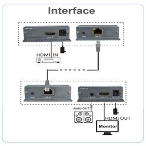 Image 2 - HDMI Extender over TCP/IP con Audio Extractor lavoro come splitter HDMI supporto 1080 p HDMI extender via Rj45 150 m