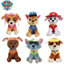 6 Pcs/Set Paw Patrol Dog Plush Doll Toy and Stuffed Animal Anime Action Figure Model Chase Marshall Skey Toys for Children
