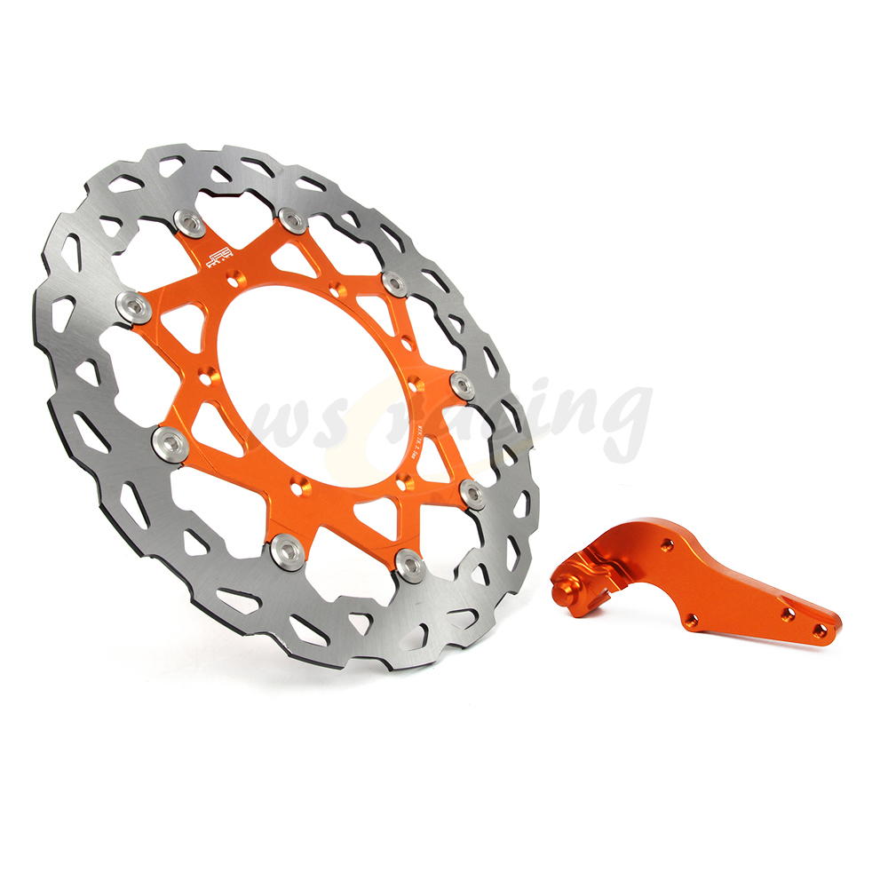 CNC 320MM Motorcycle Front Floating Brake Disc & Bracket For KTM EXC400G SX400 XCW400 EXC450 EXC450R MXC450 SXF450 SXS450 front brake disc rotor for ktm 380 exc 1998 1999 2000 2001 2002 sx mxc 1998 2001 400 egs exc g xc w 2007 2008 2009 07 08 09