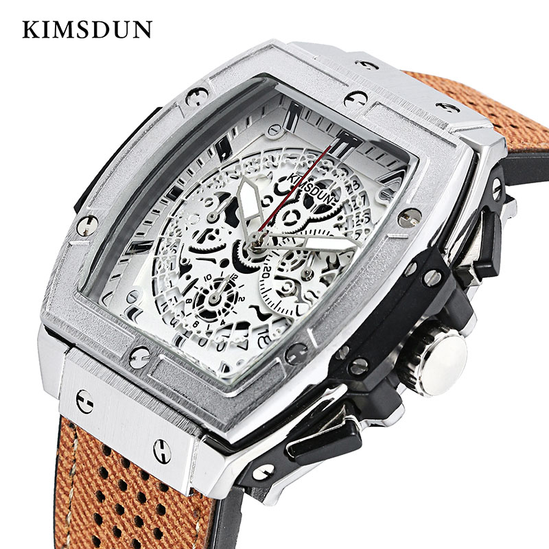 KIMSDUN Mens Watches Top Brand Luxury Quartz Watch Men Sport Fashion Waterproof Military Watch High Quality Relogio Masculino
