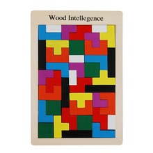 Wooden Puzzle Tetris Game Baby Educational Kid Toy