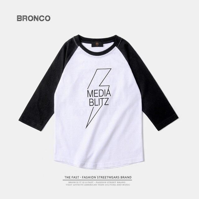 Children's clothing   2017 spring  children's clothing personalized flash print t-shirt arc feet soft cotton t shirt