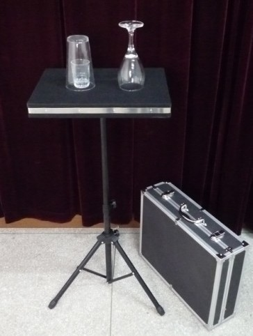 Coin in Glass and Glass Breaking Table w/ Case & Table Base/Magic Tricks/Stage Magic/Electronic Magic/Mentalism glass breaking table with aluminium case magic table combination tricks stage gimmick illusions accessories mentalism