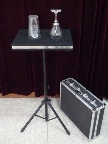 Tour de magie Coin en verre et verre cassant la Table avec le boîtier et la Base de la Table magique/mentalisme magique électronique