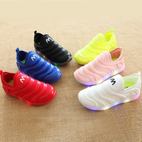 New 2017 Hot Sales Net Breathable Toddler First Walkers Casual Shoes Candy Color Kids Sneakers LED